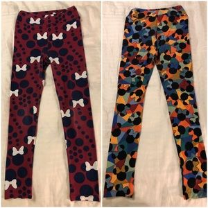 TWO Pair - Disney LuLaRoe Tween Minnie Leggings XL